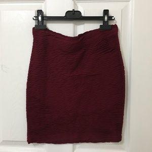 ⭐️ 2/$20 Forever 21 Burgundy Skirt